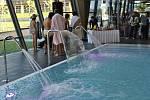 Slavnostní otevření bazénu v Litomyšli.