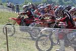Juniorské motokrosové mistrovství na trati v Březové.