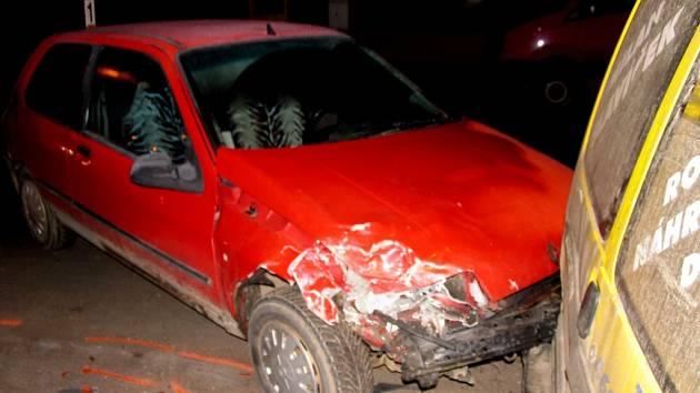 Ve středu 20. února havarovala v Poličce řidička z Pardubic.