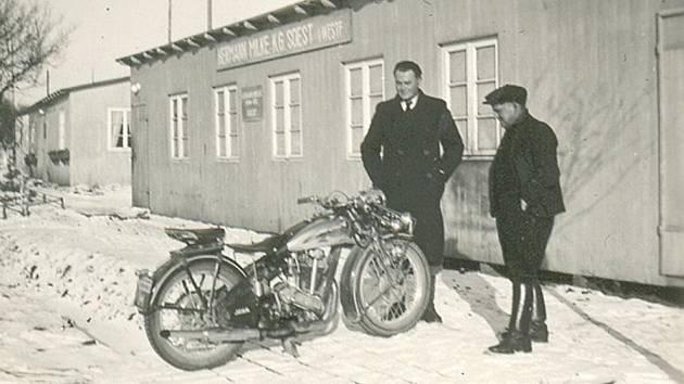 DÍLNY STAVBY. Stavební dvůr firmy Hermann Milke 1939 – 42.