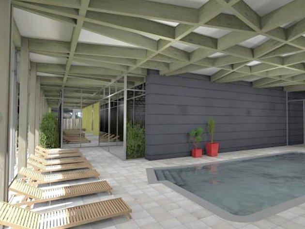 Vize architekta.Tak by mohl svitavský bazén vypadat.