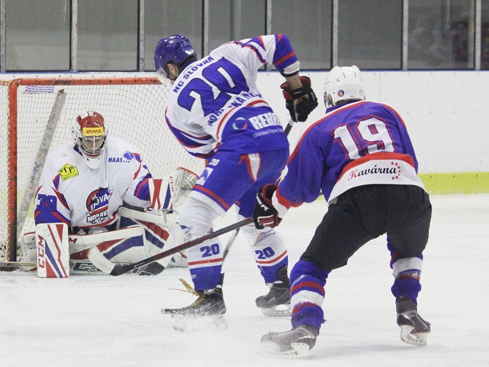 Pouze tři góly inkasoval ve třech utkáních čtvrtfinálové série gólman Petr Galuška. To byl základ k úspěchu.