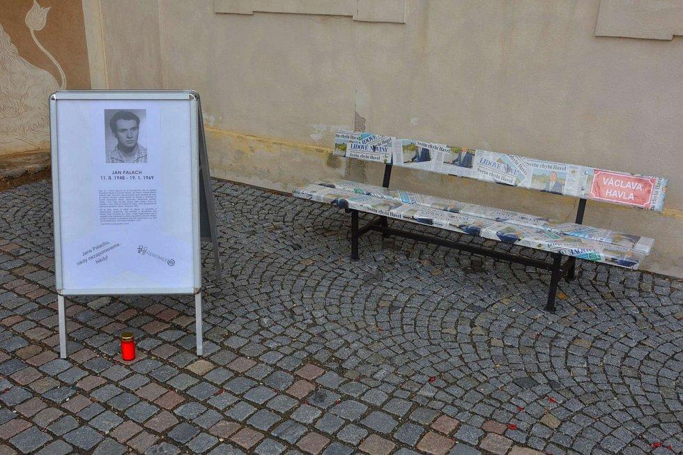 Připomínka oběti Jana Palacha v Litomyšli