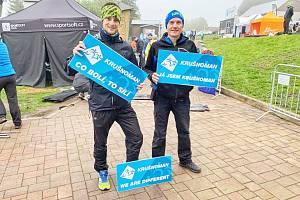 Dvojice z litomyšlského týmu mohla být v cíli duatlonu s předvedeným výkonem spokojena.
