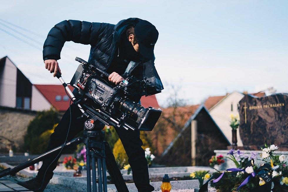 Filmaři natáčí nový film Flávia v Rozhraní.
