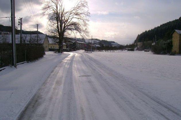 Sněhová kalamita na Březovském kopci.