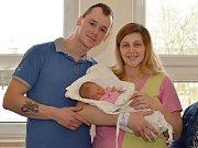 NATÁLIE CACHOVÁ. Narodila se  25. února Simoně Bláhové a Jiřímu Cachovi ze Svitav. Měřila 49 centimetrů a vážila 3 kilogramy.