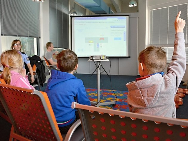 Děti se při akci Jak se nestát obětí kyberšikany nebály přihlásit a zapojit se do dění