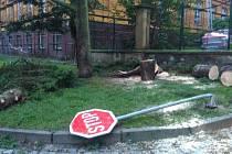 Noční bouřka napáchala škody.