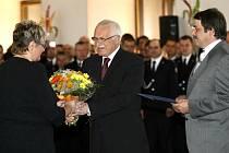 Naděžda Tomčíková u prezidenta České republiky.