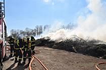 Požár ve svitavské kompostárně