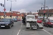 Další z řady nehod na světelné křižovatce v Litomyšli.