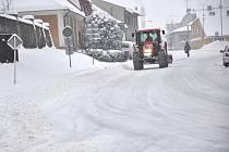 Zima v Poličce 9. ledna.