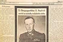 """Odraz """"atentátu"""" na Heydricha ve východočeském dobovém tisku."""