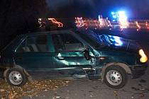 Dvě vozidla havarovala v obci Gruna