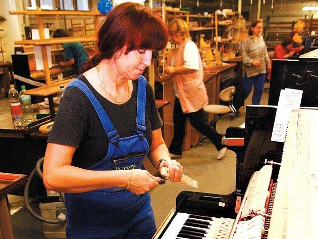 Sedm tisíc pianin a klavírů vyrobili v minulém roce ve společnosti Petrof s.r.o. v Hradci Králové. Je to o zhruba pět set kusů méně než v roce 2005. Přesto je společnost v zisku.