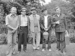 Rok 1975. Setkání spisovatelů na Hrádečku