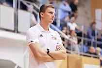Trenér svitavských basketbalistů Lukáš Pivoda.