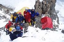Česká expedice v druhém výškovém táboře C2.