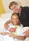 JOSEF MAREK. Narodil 28. srpna Martině Müllerové a Josefu Markovi z Kunčiny. Měřil 49 centimetrů a vážil 3,2 kilogramu.