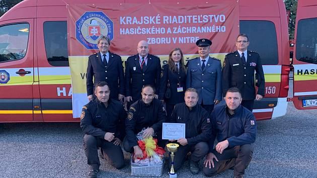 Tým hasičů ze Svitav si z mezinárodní soutěže ve vyprošťování přivezl zlato.