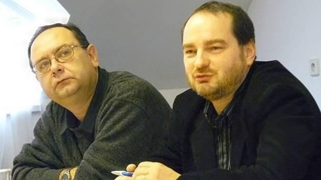 DVA MUŽI festivalu Vojtěch Stříteský  (vlevo) a Jan Pikna.  Program  představí v Praze.