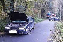 Hasiči zasahovali u páteční nehody dvou vozidel v Bystrém