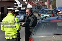 Policejní kontrola ve Svitavách.