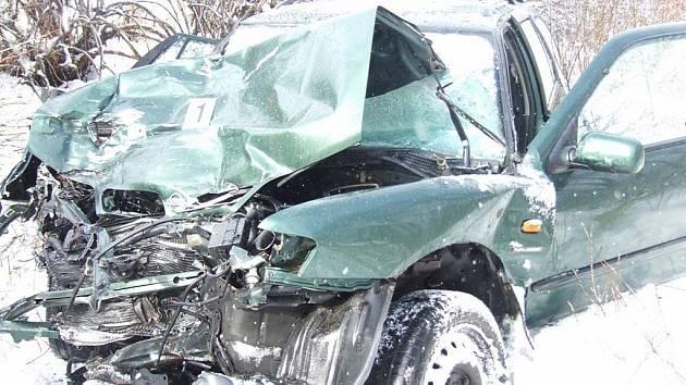 Fotografie z tragické nehody u Svitav.