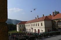 Slib nových studentů na Vojenské střední škole a Vyšší odborné škole MO v Moravské Třebové.