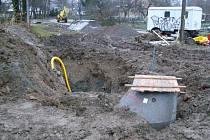 Výstavba čističky a kanalizace v Pusté Kamenici.