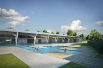 Vizualizace krytého bazénu v Litomyšli