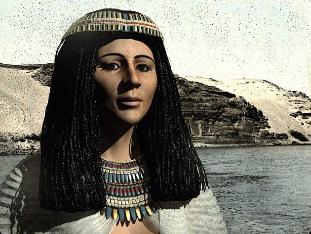 Počítačová rekonstrukce obličeje princezny Hereret.