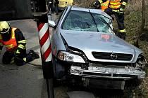 Pondělní dopravní nehoda u Jevíčka.