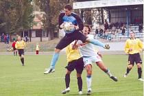 Svitavský brankář Jan Lampárek v derby neměl mnoho práce