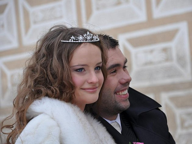 Fiktivní svatba na litomyšlském zámku. Jednalo se o přípravu na svatební veletrh, který se koná koncem ledna v Pardubicích.