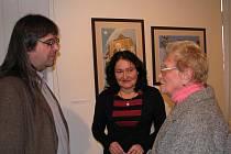 Josef Lada, vnuk slavného kreslíře, zahájil ve Svitavách výstavu reprodukcí svého dědečka Josefa Lady.