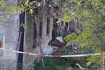 Dům s nebezpečnými látkami v Bělé nad Svitavou.