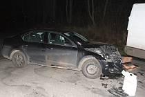 Nehoda u Litomyšle se obešla bez vážného zranění.