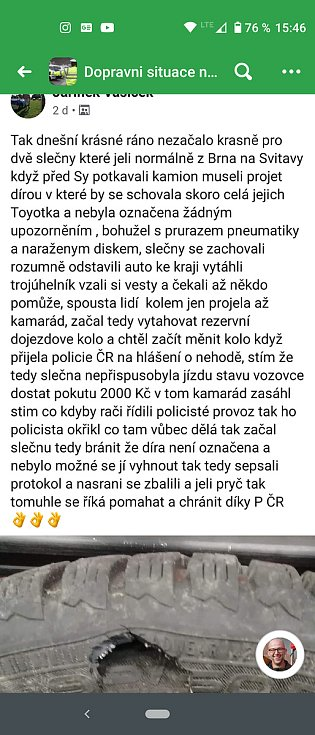 VÝBUŠNÝ PŘÍSPĚVEK. Tímto postem na Facebooku pisatel nadzvihl policisty ze židlí, prý je to lež.