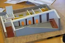 Model nového kostela, který vyroste  za světelnou křižovatkou v Litomyšli.