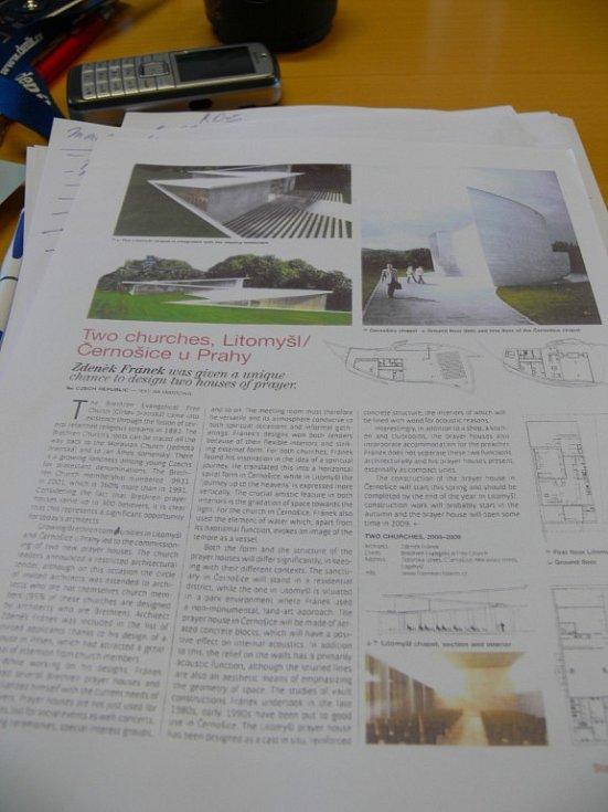 Ve francouzském časopise o architektuře vyšel článek o litomyšlském kostele