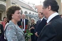Předseda vlády Jan Fischer a náměstkyně švédské ministryně pro evropské záležitosti Maria Aseniusová.
