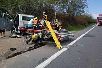 K vážné nehodě motorkáře došlo v pátek kolem 11.20 hodin na silnici I/35 u Moravské Třebové.