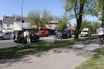 Nehoda na přechodu pro chodce ve Svitavách.