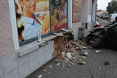 Při nehodě v Březové nad Svitavou nebyl naštěstí nikdo zraněn.