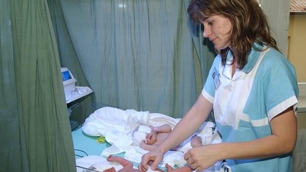 Gynekologicko-porodnické oddělení Nemocnice v Litomyšli.