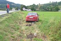 Havárie vozu Škoda Octavia v Rozhraní