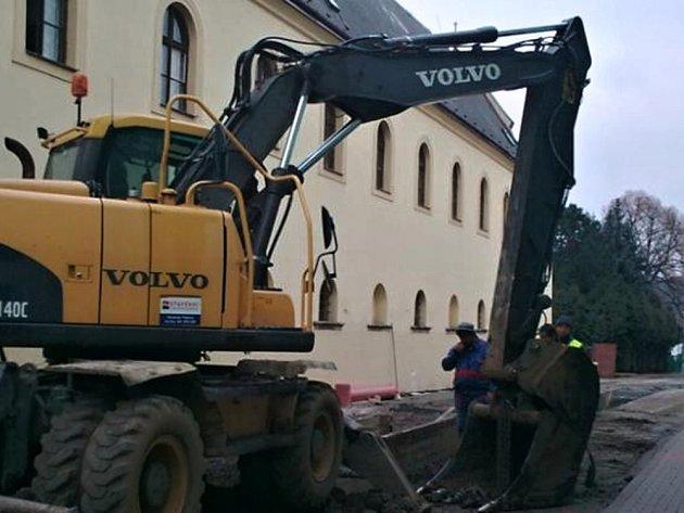 Práce na Dukelské ulici v Moravské Třebové