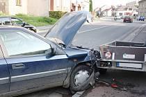 Na ulici Brněnská ve Svitavách došlo v sobotu kolem sedmnácté hodiny ke střetu vozidel.